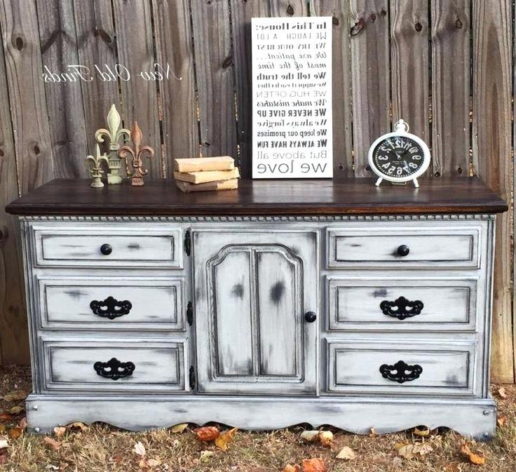 gray painted old furniture