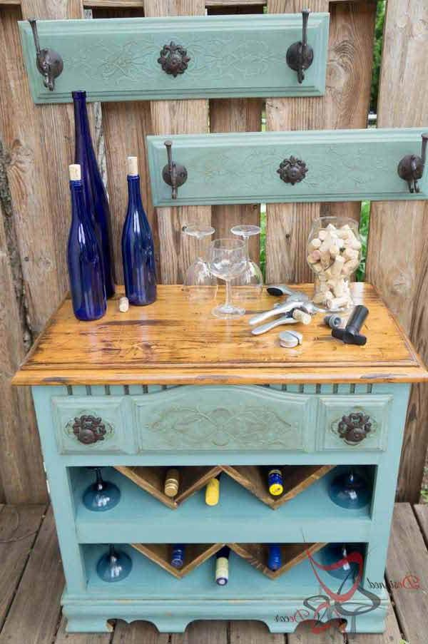 old furniture for wine storage