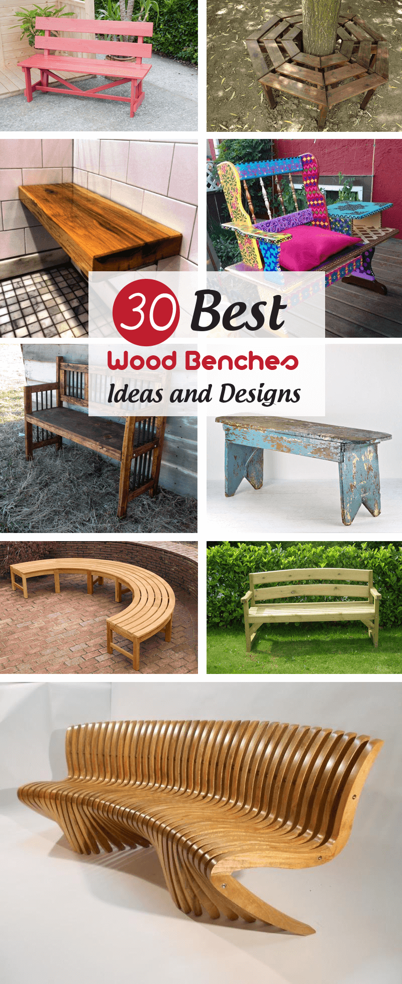 Best Wood Benches Ideas and Designs