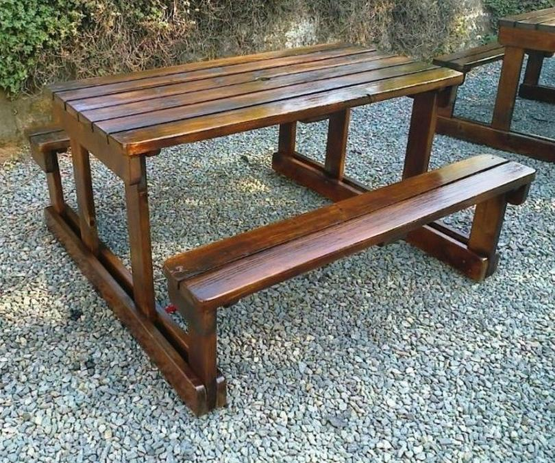 Commercial Wooden Bench