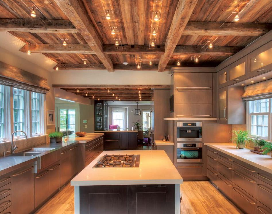 Rustic Wood Ceiling With Lights