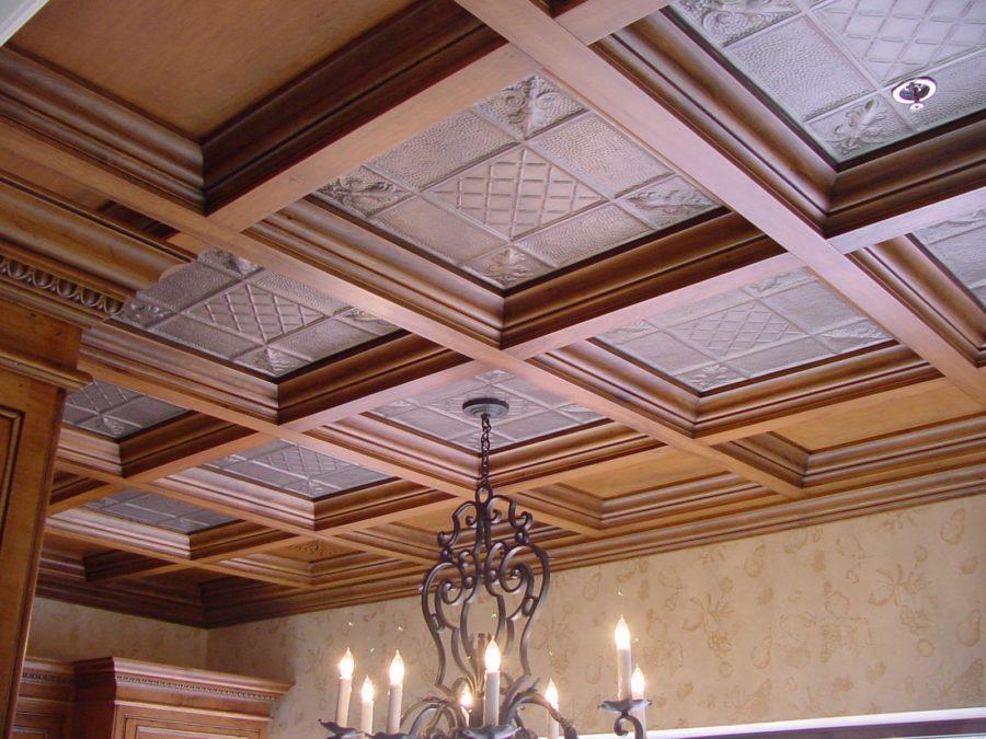 old wood ceilings panels