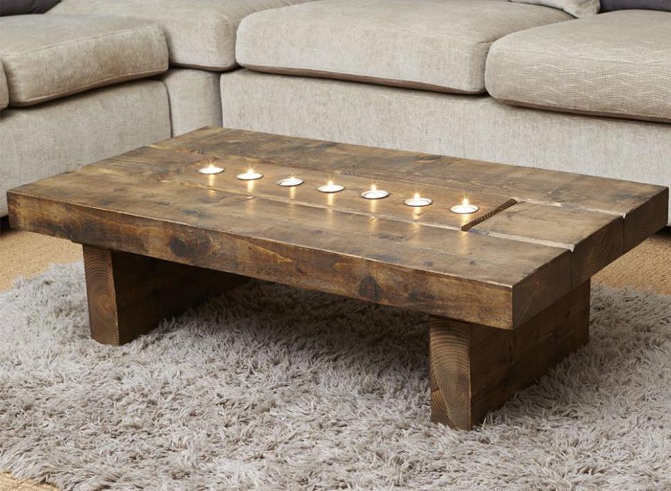 Light Wood End Coffee Table