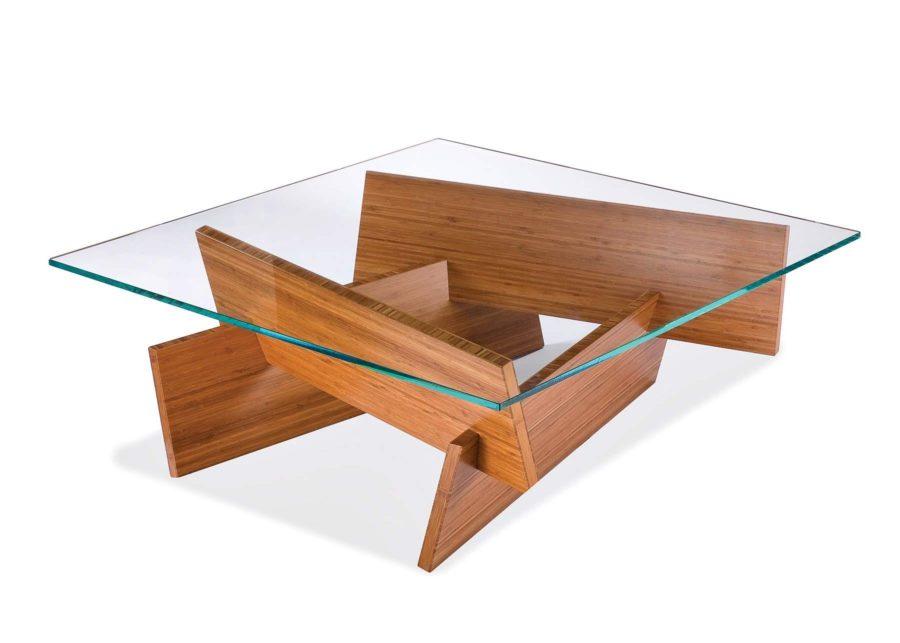 Modern Small Wood Coffee Table