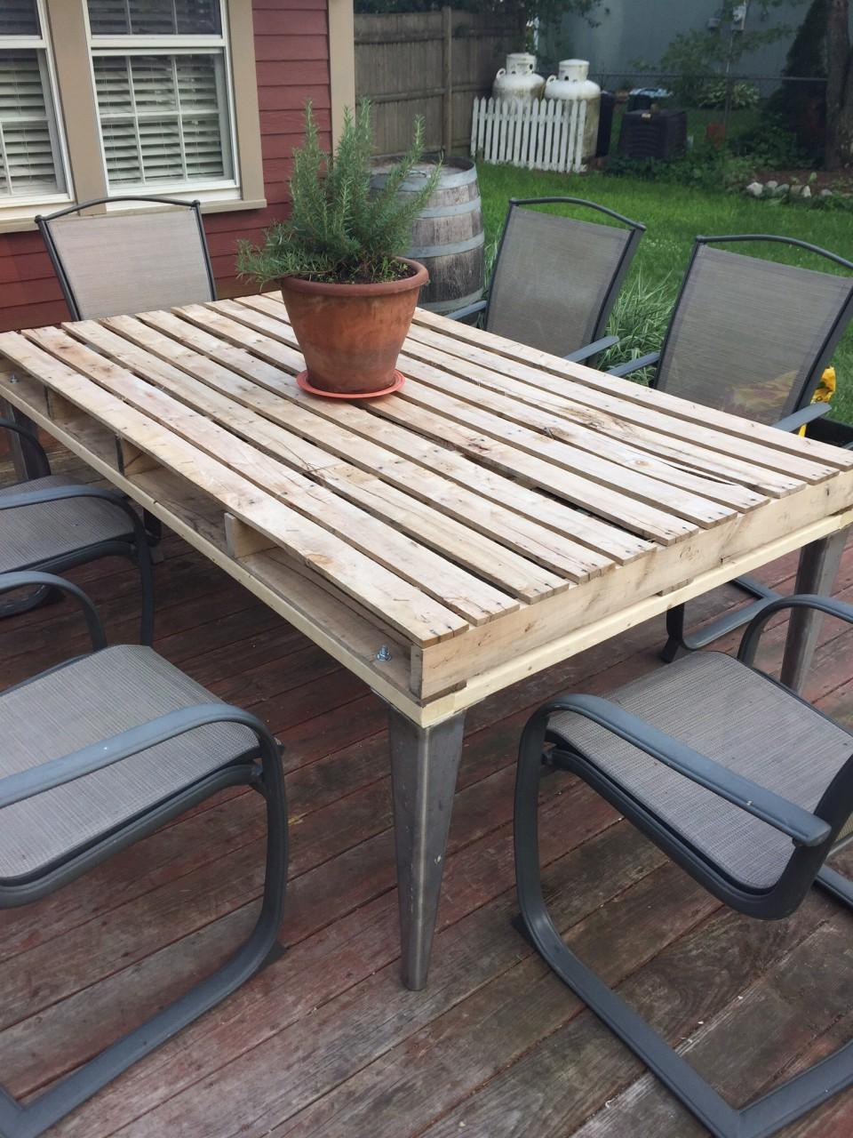 Patio Coffee Table From Wooden Pallets