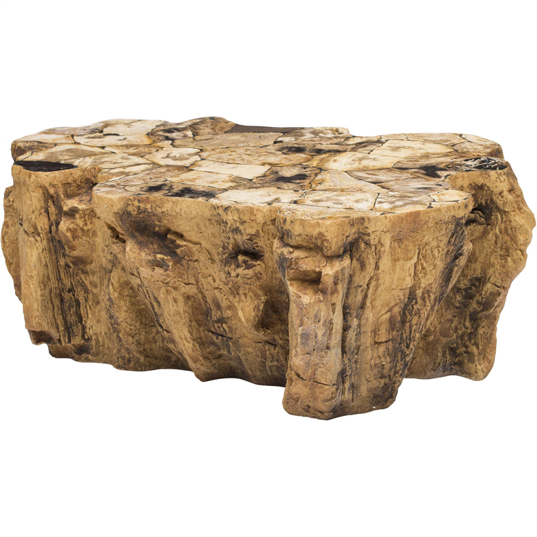 Petrified Wood Lava Coffee Table