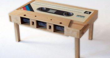 Unique Casette Wood Coffee Table