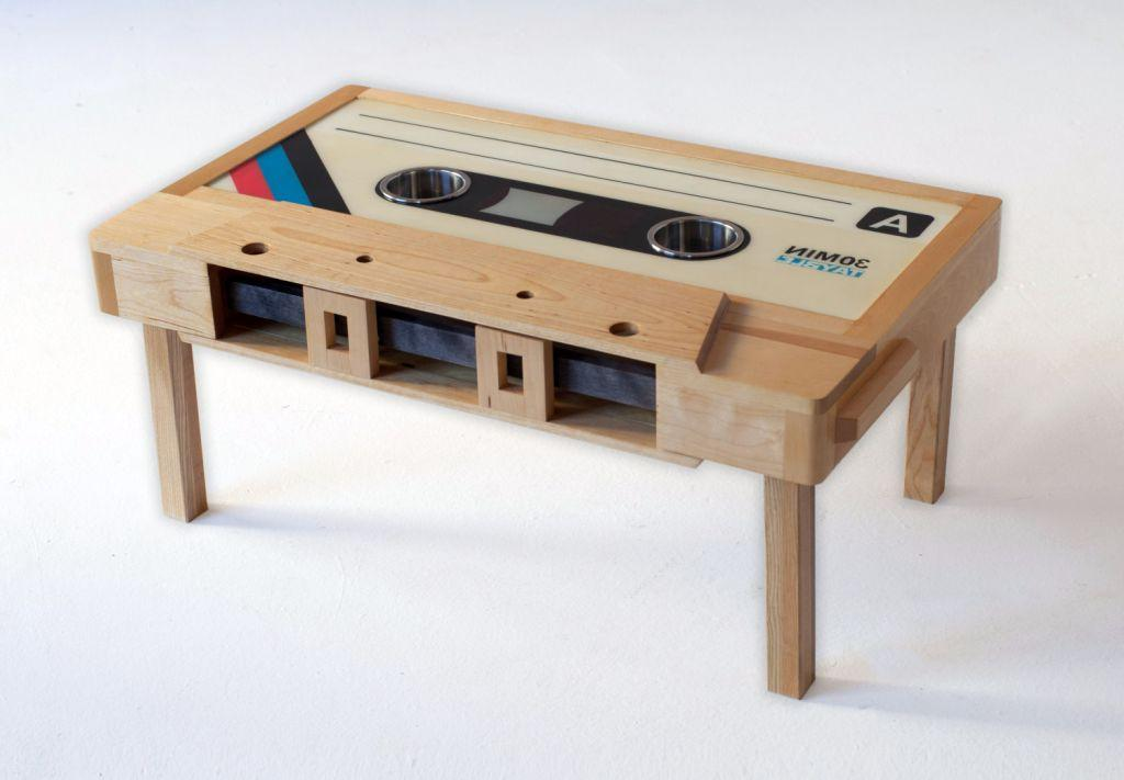 Unique Casette Wood Coffee Table
