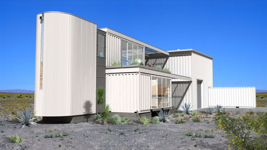 An eco intelligent home, Mojave Desert (USA)