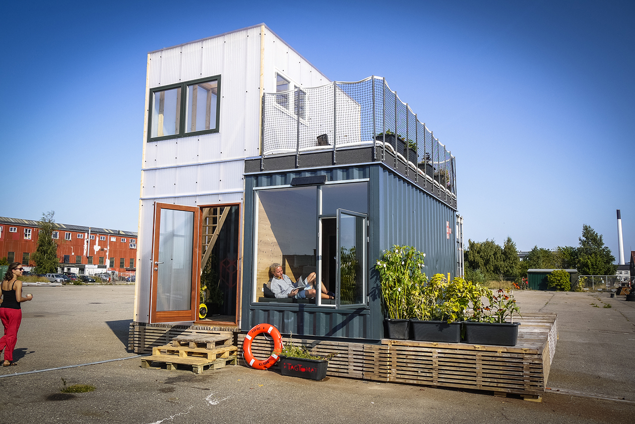 Shipping Container Home With Terrace Garden