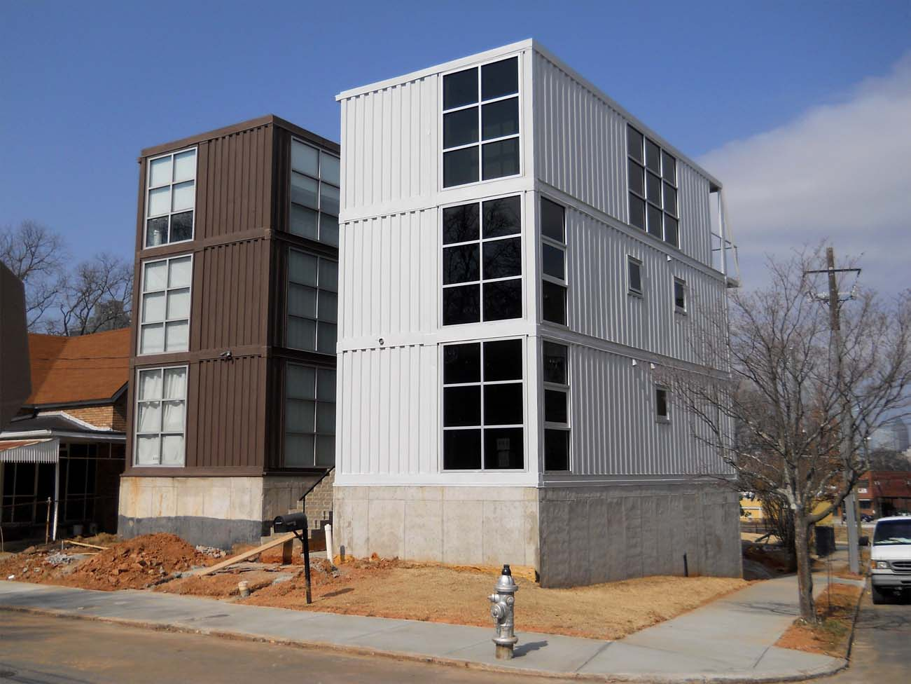 shipping container tall building ideas