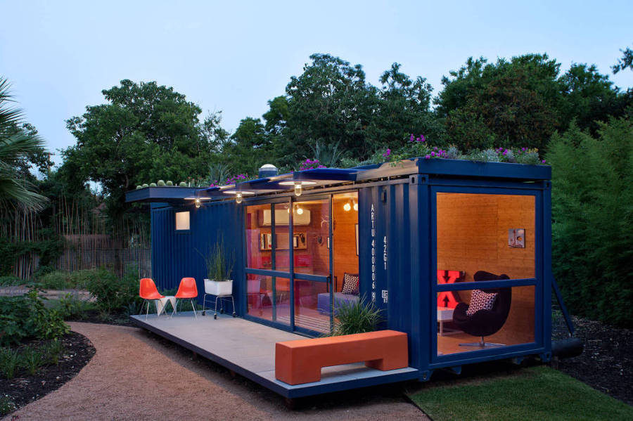 shipping container waiting room ideas
