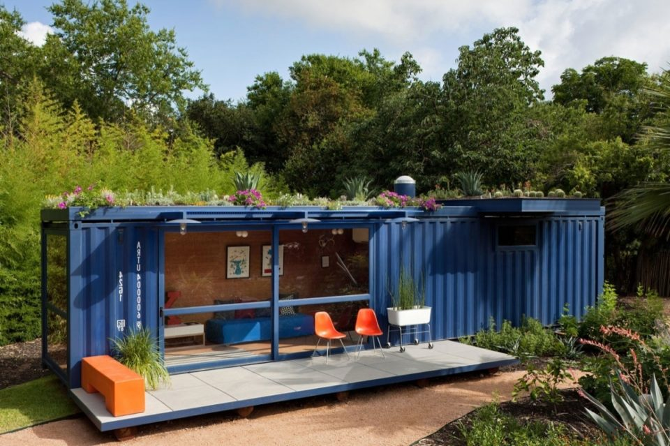 shipping container guest room ideas