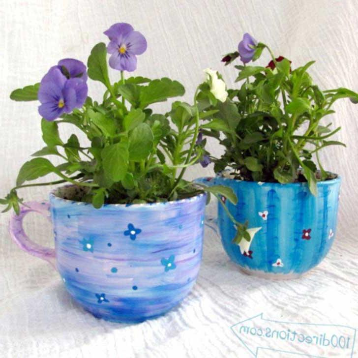 DIY Cup Planter Ideas