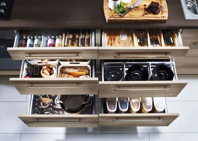 Rational storage in the kitchen