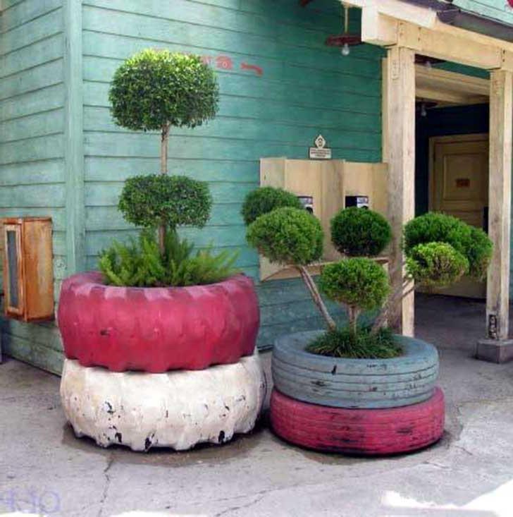 Repurposed DIY planter