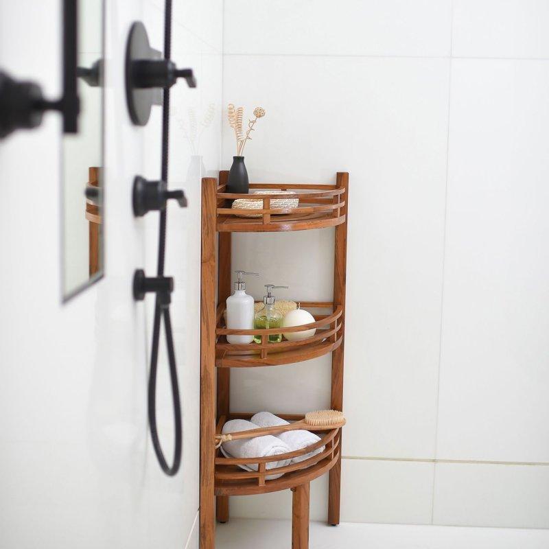 bathroom wall corner shelf