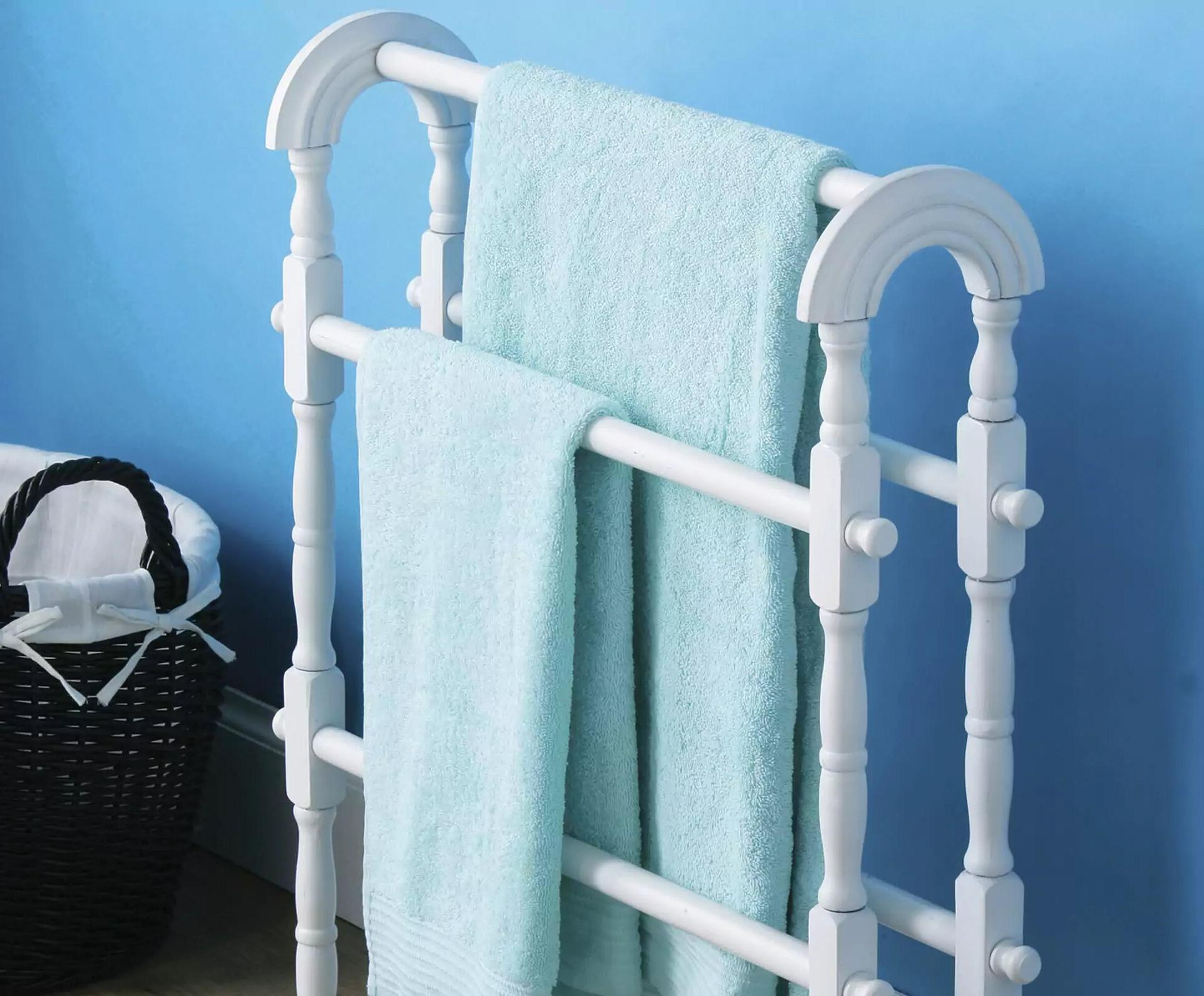 bathroom wall shelf towel holder