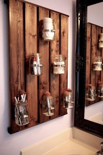 brown bathroom storage cabinet