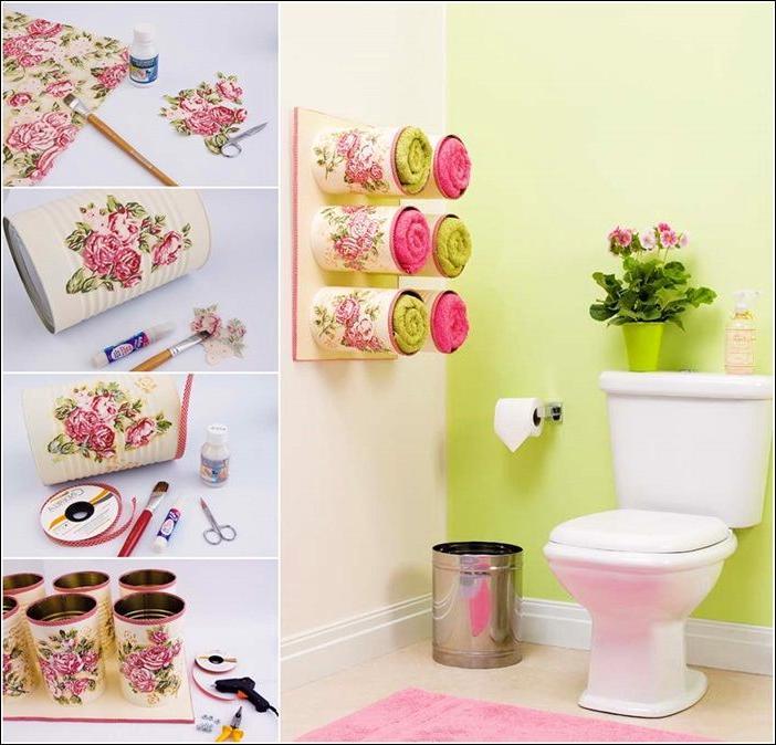 colorful and unique bathroom storage ideas