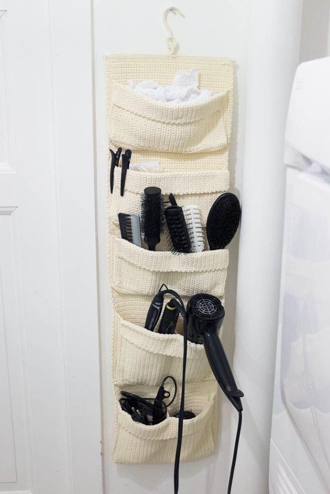 diy pocket hanging ideas for bathroom storage