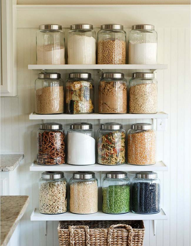 open shelves storage for small kitchen
