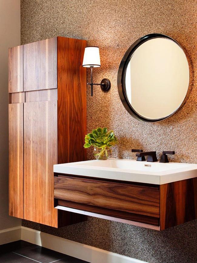 rustic bathroom storage cabinet