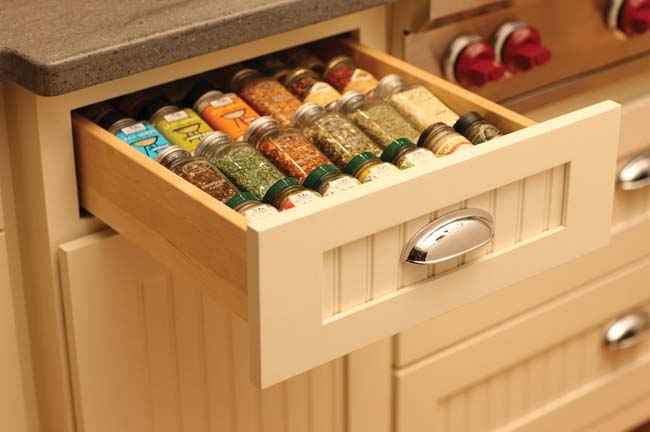 small drawer storage for small kitchen