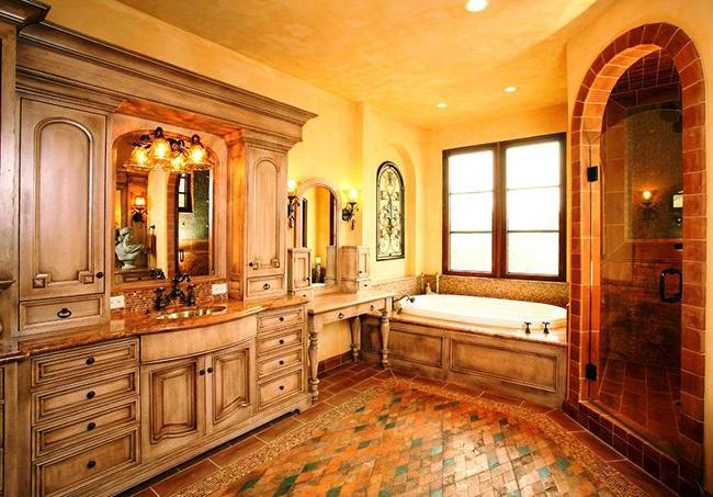solid wood bathroom storage cabinet