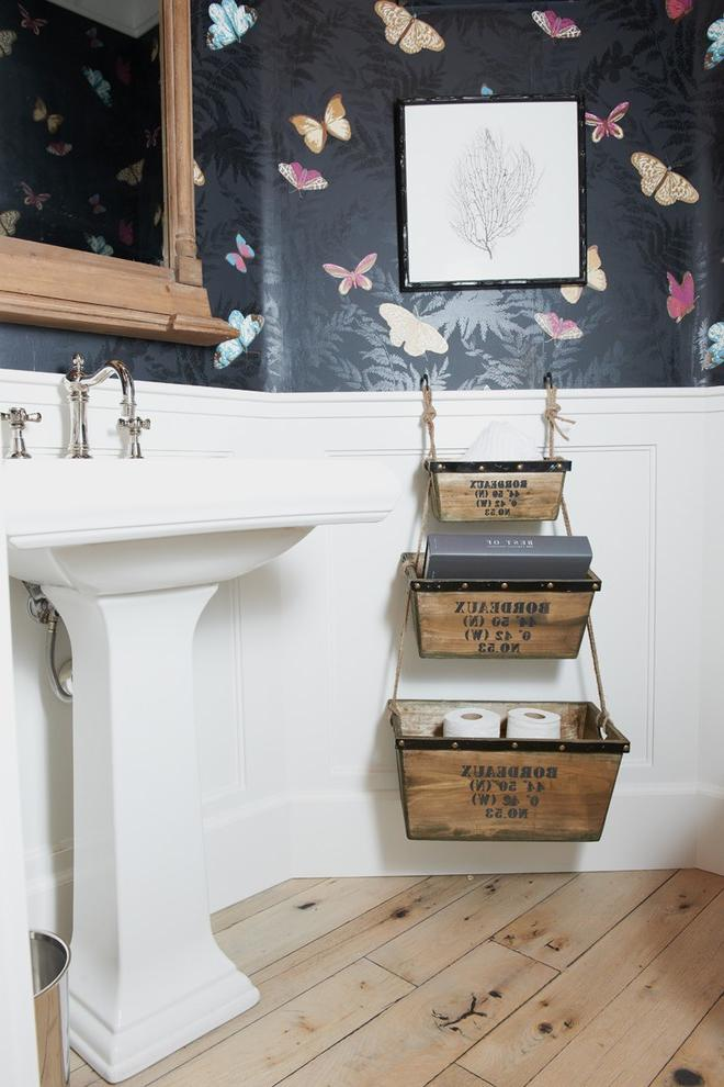 wood basket storage design