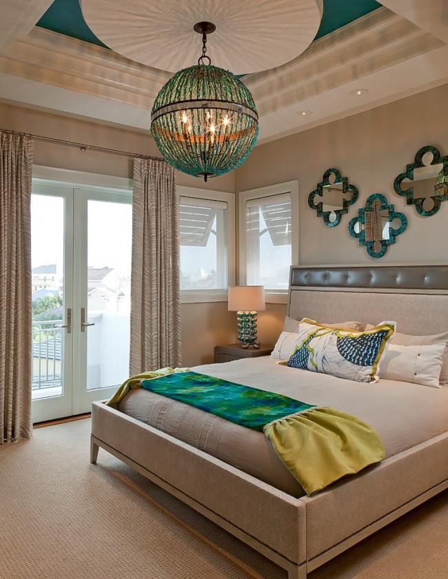 Bedroom lighting in oriental mood