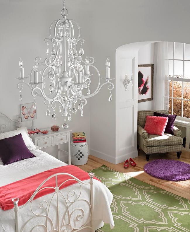 Luxurious white chandelier