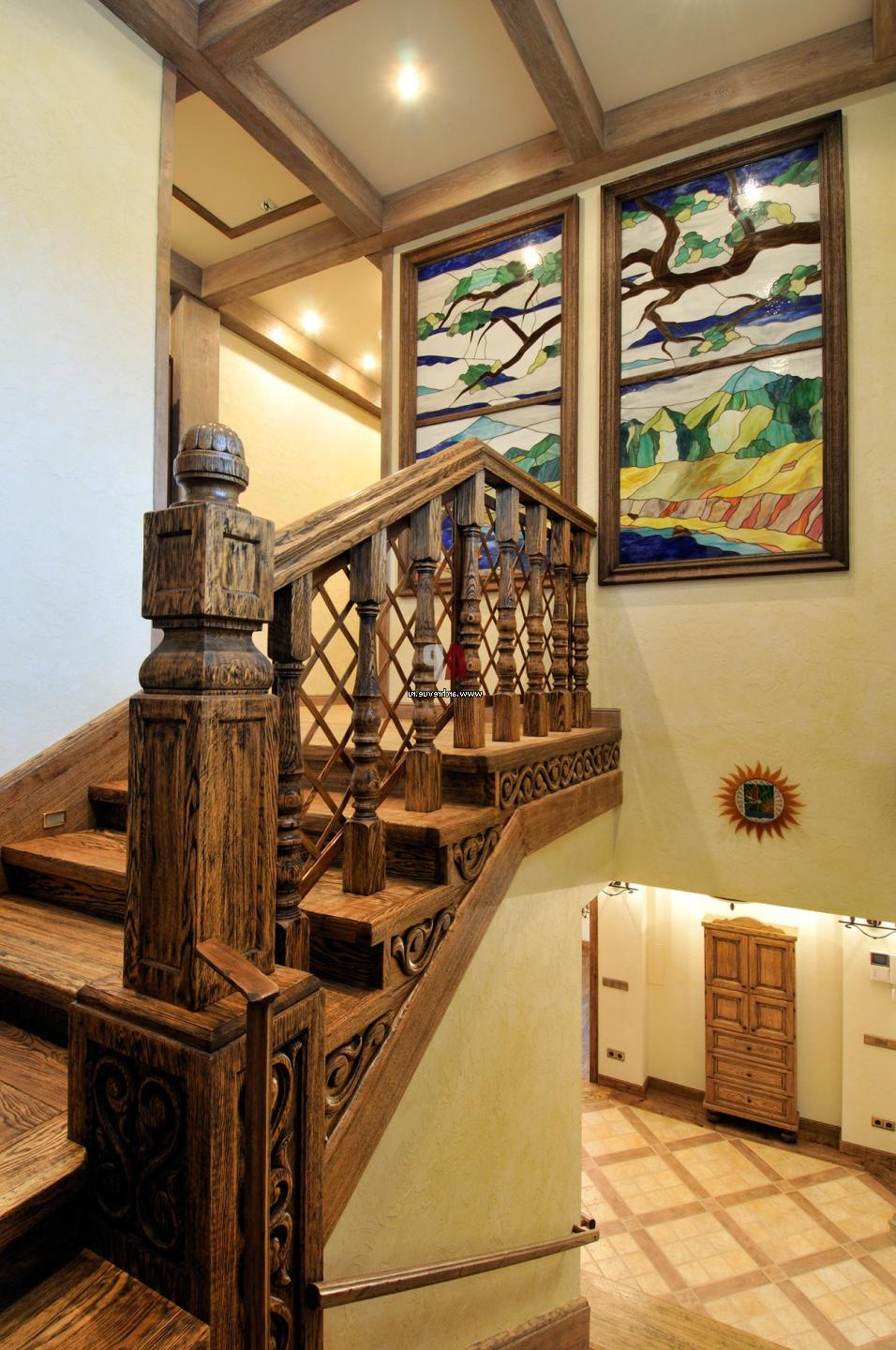 all wood staircase ideas