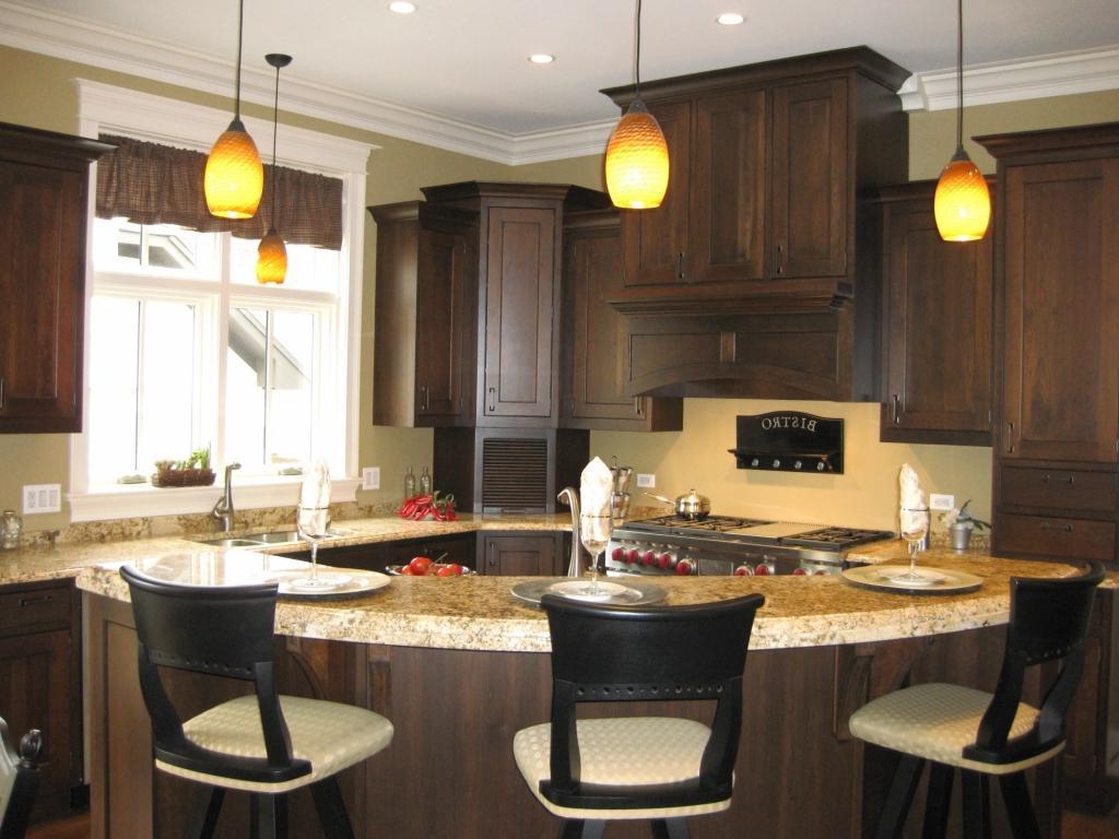 corner kitchen island lights