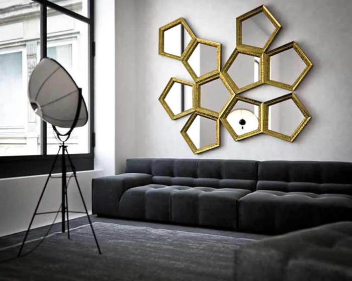 hexagon mirror ideas