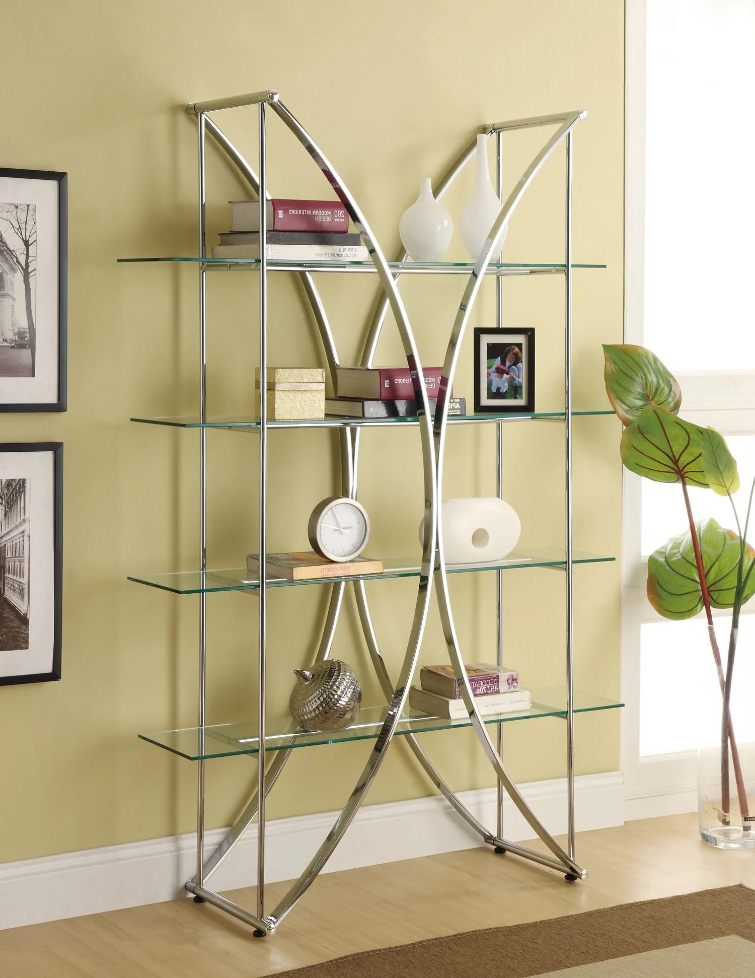Glass shelf storage for decorative items
