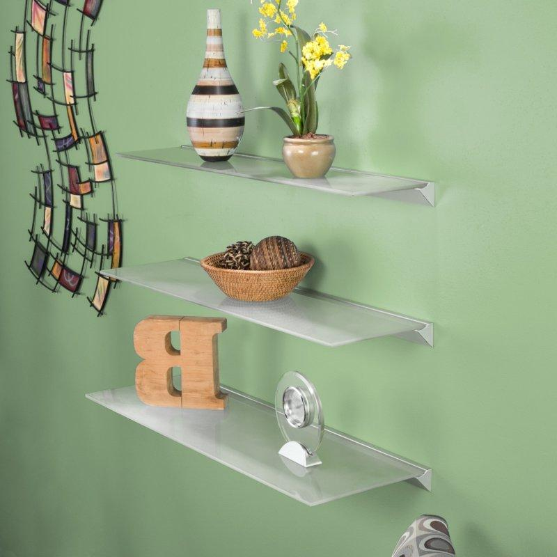Glass shelves for flowers