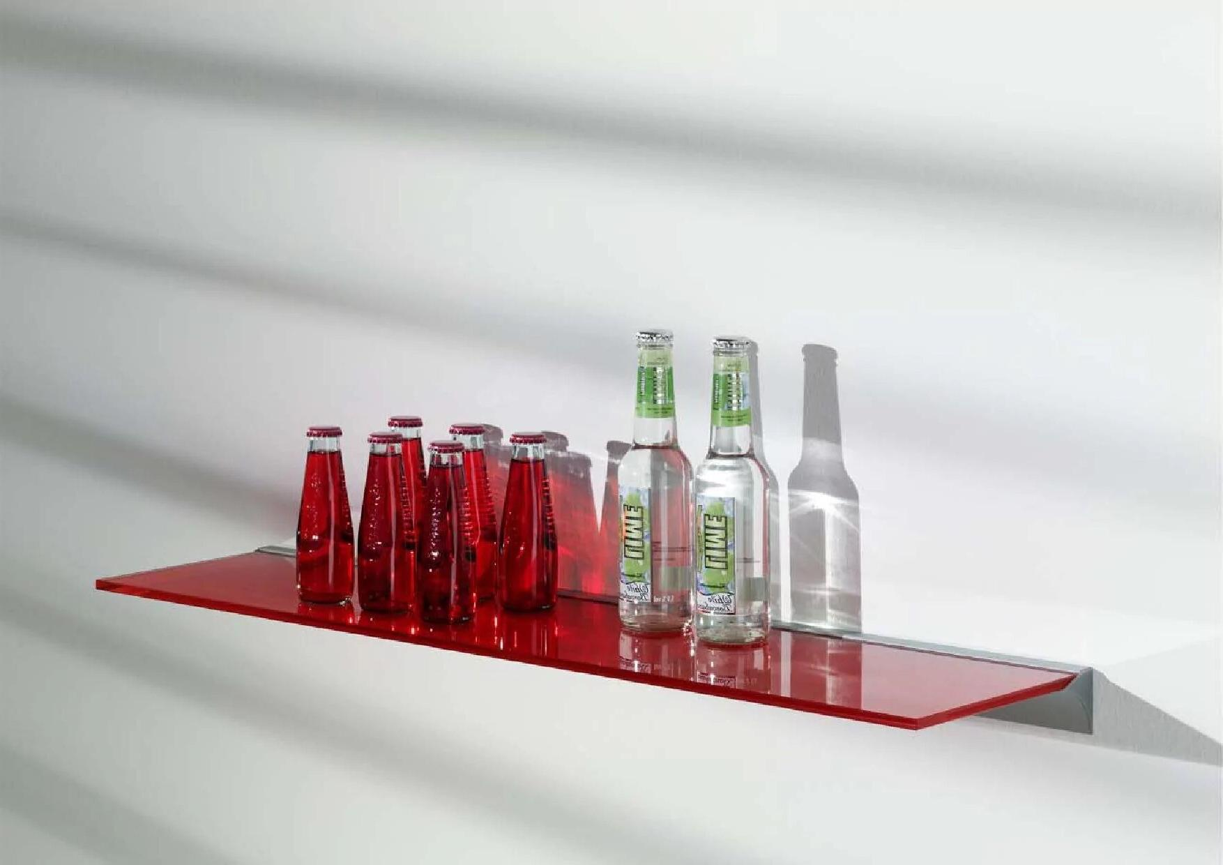 Red glass shelf