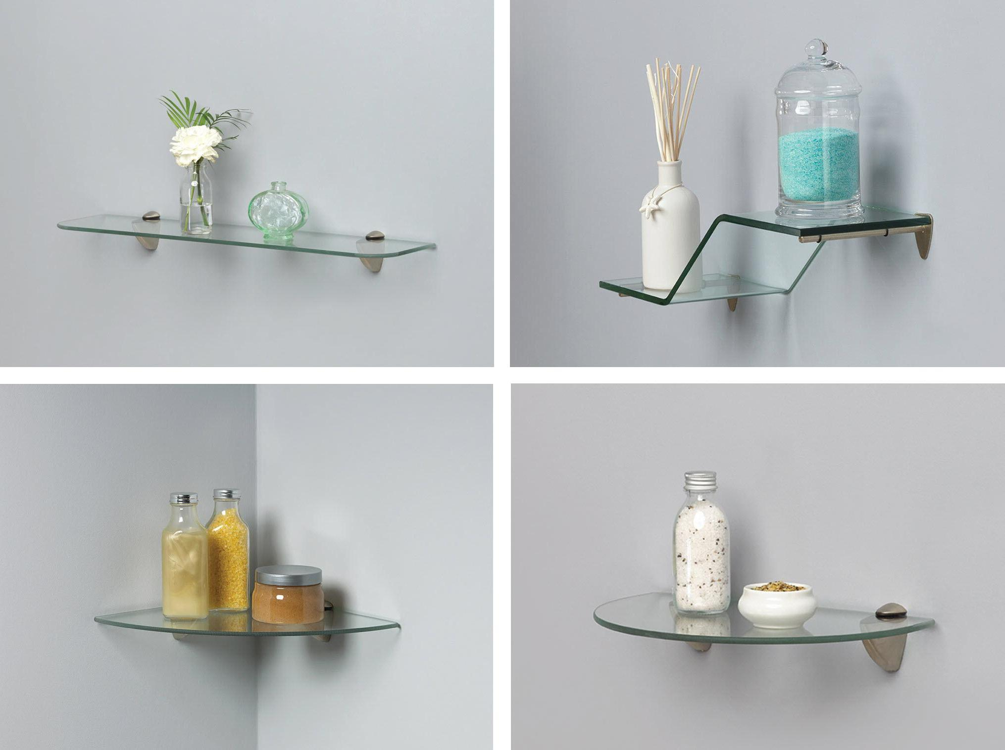 Stylish Glass Shelves Design