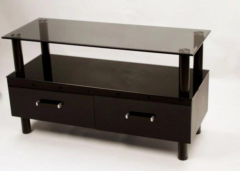 TV glass shelf