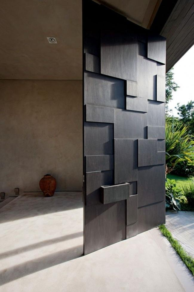 Unusual and very stylish steel door