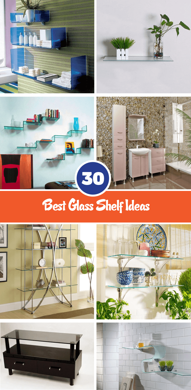 best glass shelf ideas