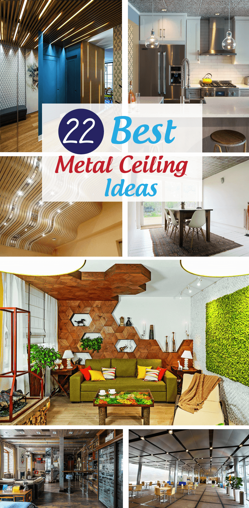 best metal ceiling ideas