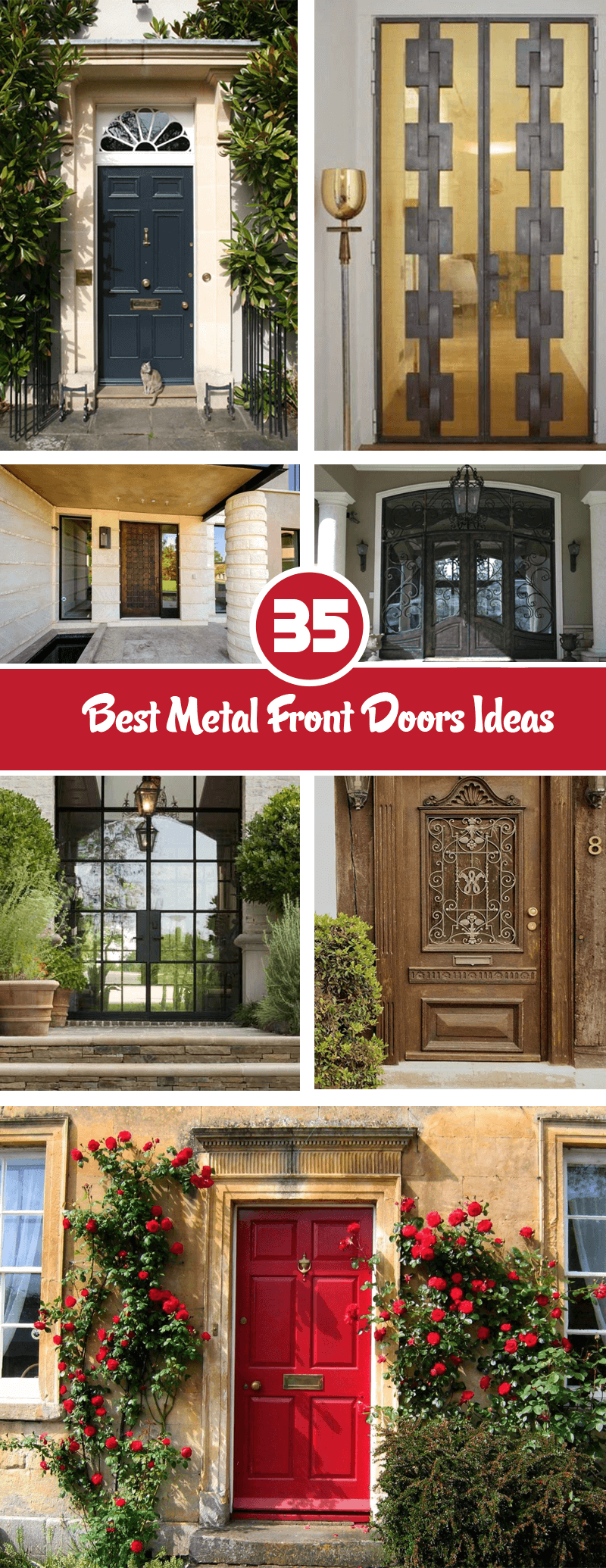 best metal front door ideas