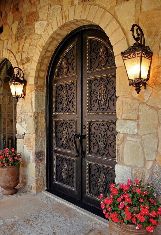 dark vintage style front doors