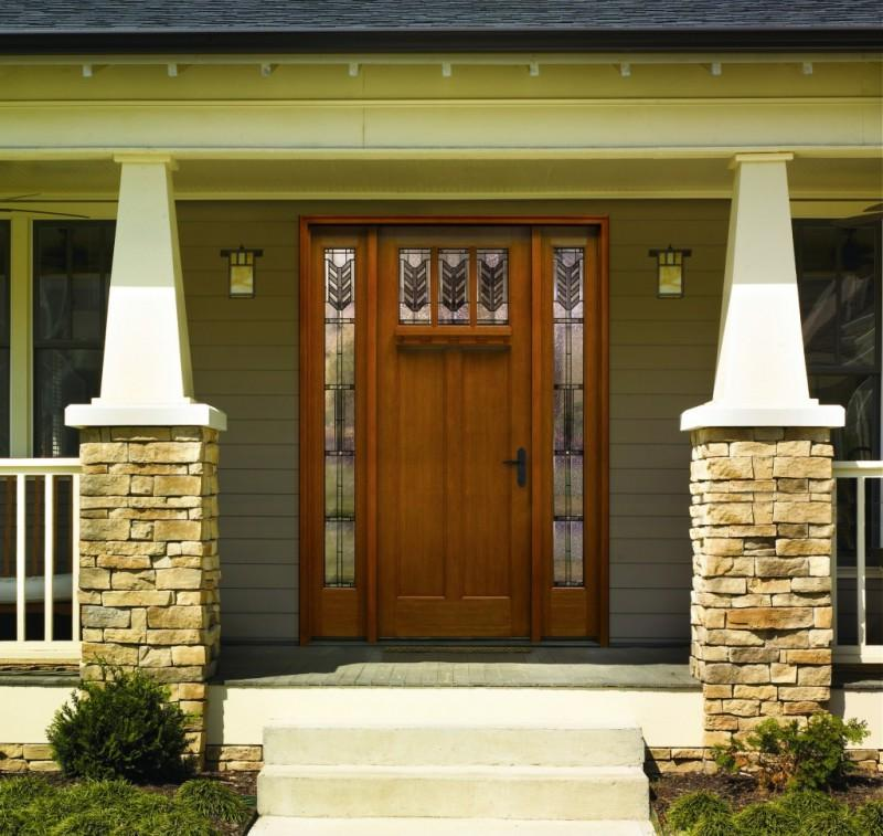decorative wood and metal front doors