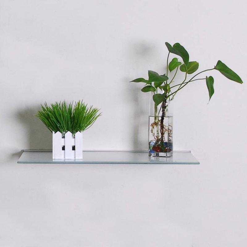 floating glass shelves for plant