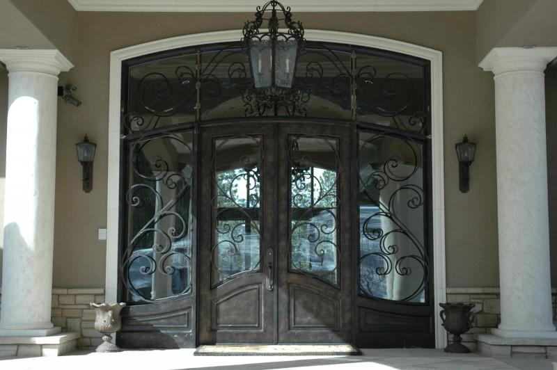 iron front doors