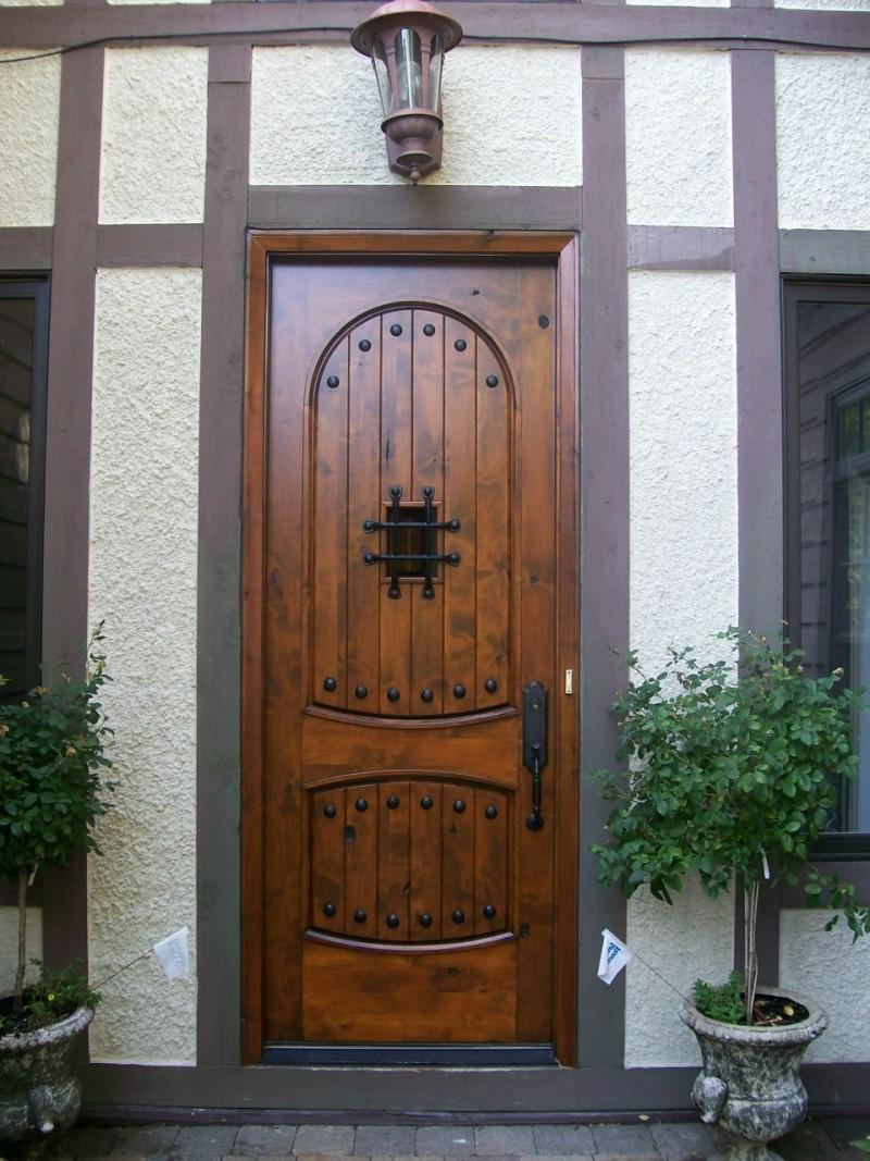 rustic metal front doors