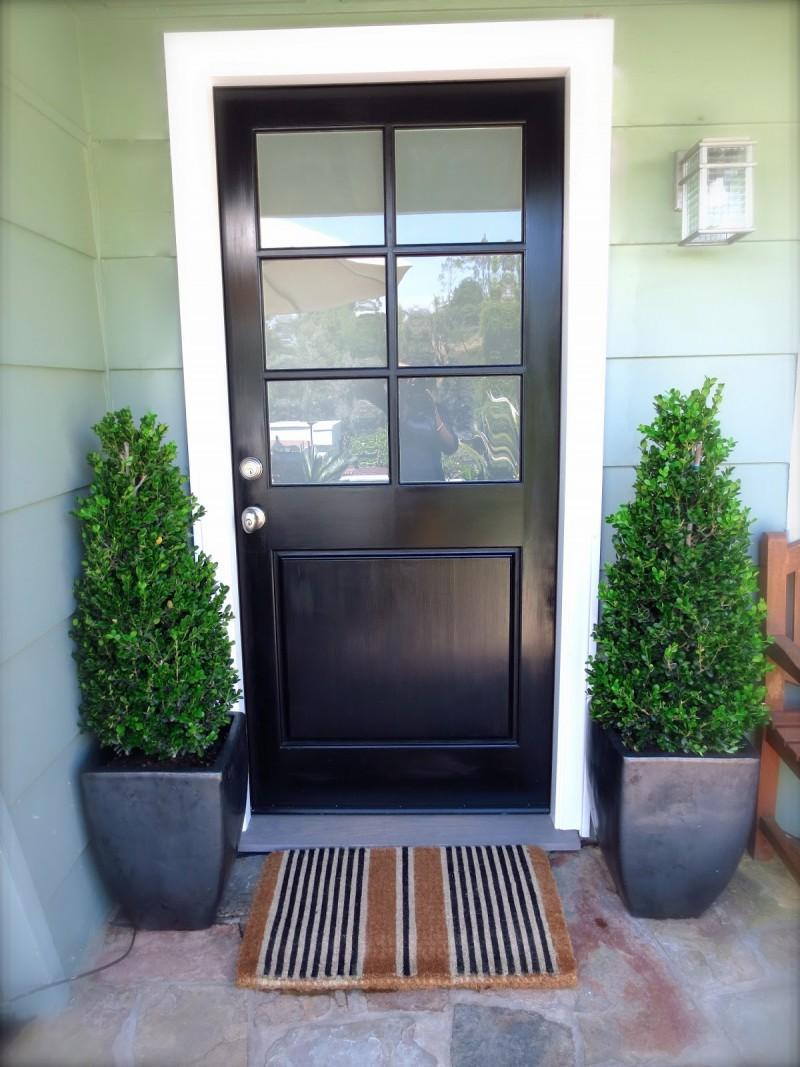 steel framed doors